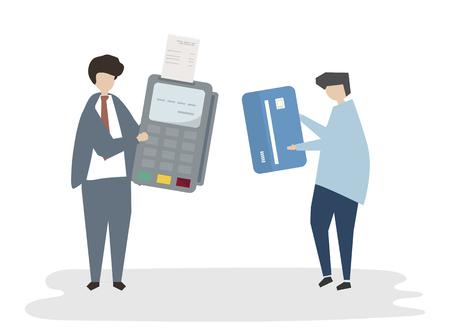 Payment avatar illustration Stock Illustration - 98629826