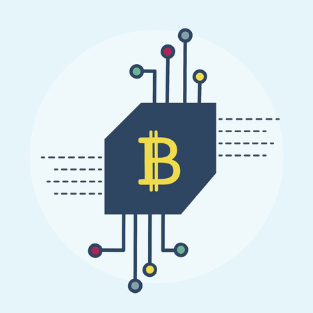 Illustration of bitcoin concept Stock fotó - 98629835