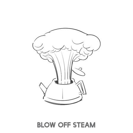 蒸気イディオムベクトルを吹き飛ばす