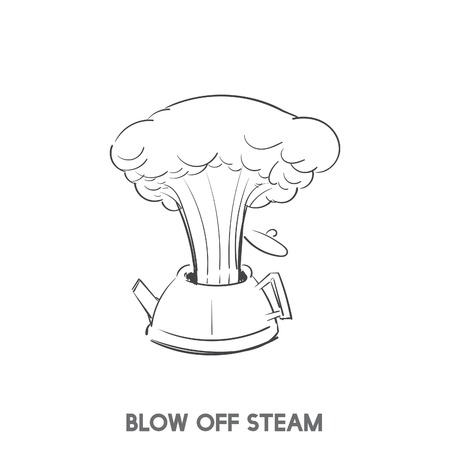 Blow off steam idiom vector Stok Fotoğraf - 98629840