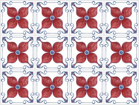 Illustration of tiles textured pattern Stock fotó - 98631109