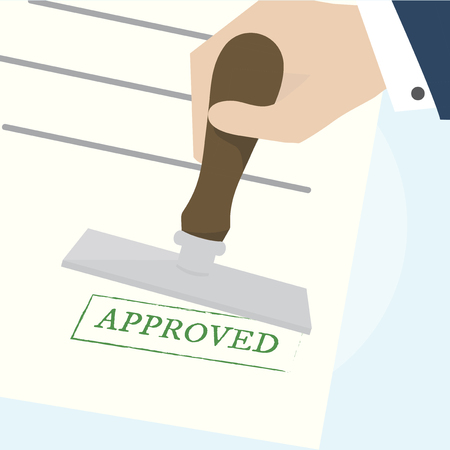 Illustration of approved stamp Stock Photo
