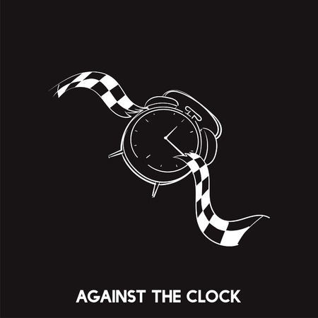 Against the clock idiom vector Banco de Imagens - 98632363