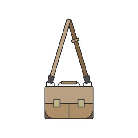 Illustration of a messenger bag Stok Fotoğraf