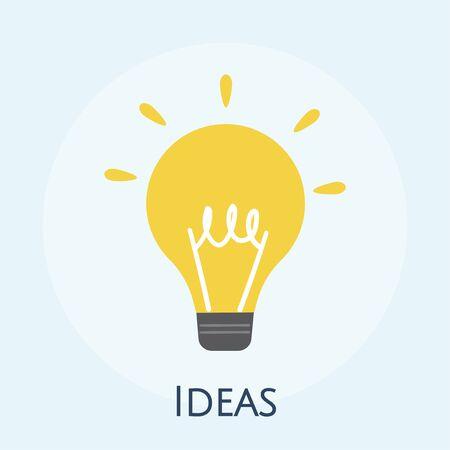 Illustration of light bulb icon Archivio Fotografico - 98632359