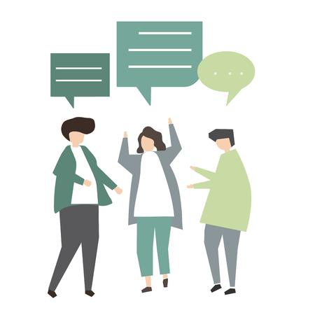 Illustration of avatar communication concept Foto de archivo