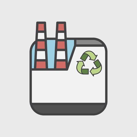 Illustration des Umweltkonzeptes Standard-Bild - 98665502