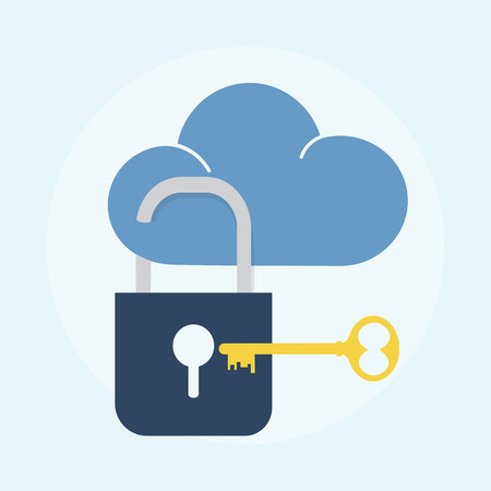 Illustration of cloud security concept