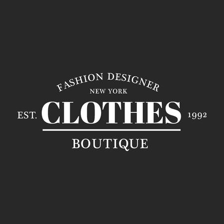 Illustration of boutique shop logo stamp banner Stock Photo