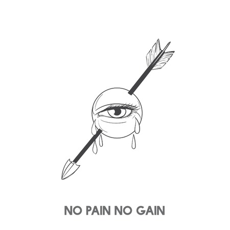 No pain no gain idiom vector