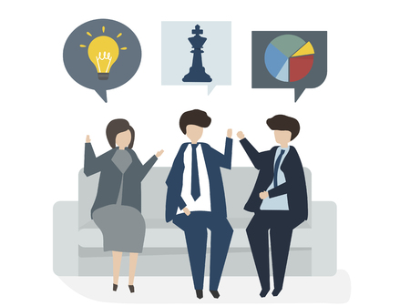 Illustration of people avatar business plan concept Stok Fotoğraf
