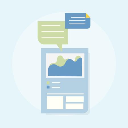 Illustration of web design template Imagens