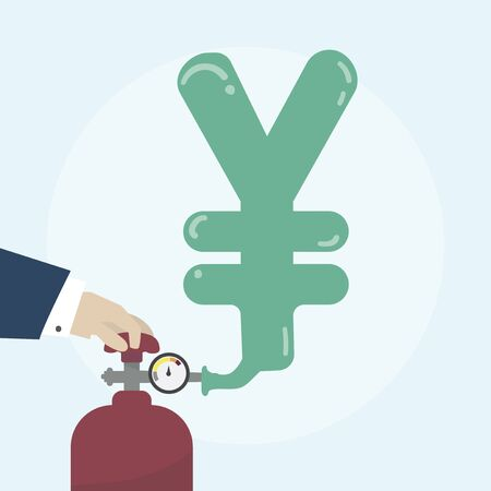 금융 개념의 삽화 스톡 콘텐츠