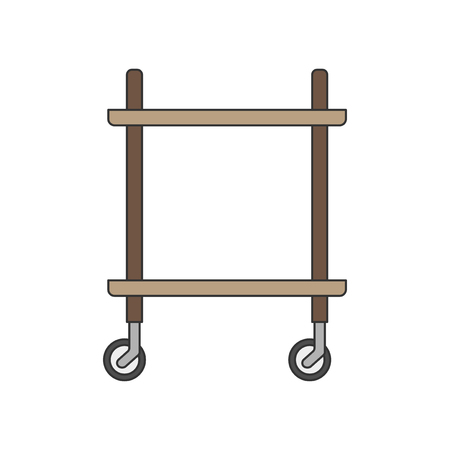 Illustration of a kitchen trolley