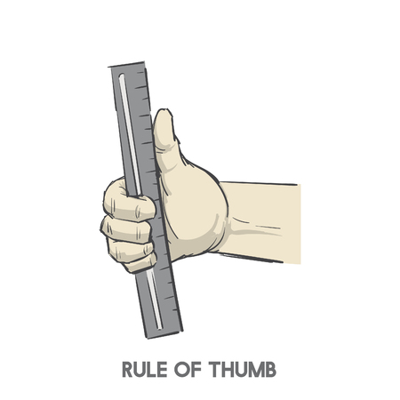 Rule of thumb Stok Fotoğraf - 98666033