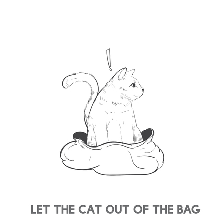 Let the cat out of the bag 写真素材 - 98666039