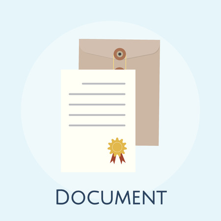 Illustration of business agreement concept