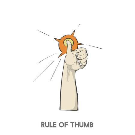 Rule of thumb Foto de archivo