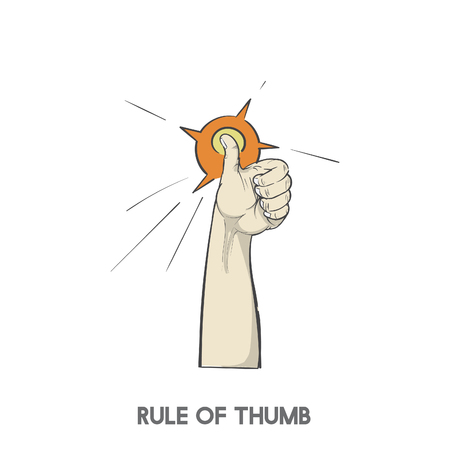 Rule of thumb Stockfoto