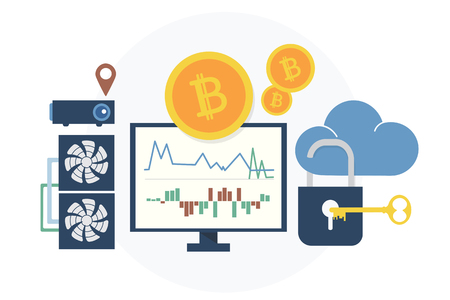 Illustration of bitcoin concept Stock fotó - 98666126