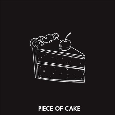 Un pedazo de la torta Foto de archivo - 98666201