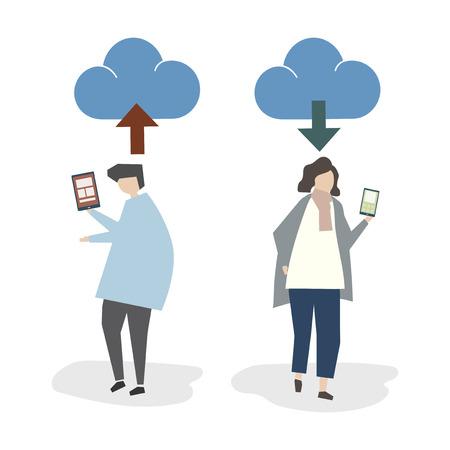Illustration d'avatar de connexion cloud Banque d'images - 98666204