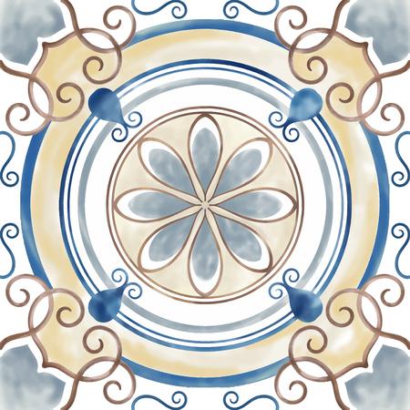 Illustration of tiles textured pattern Stock fotó - 98666210