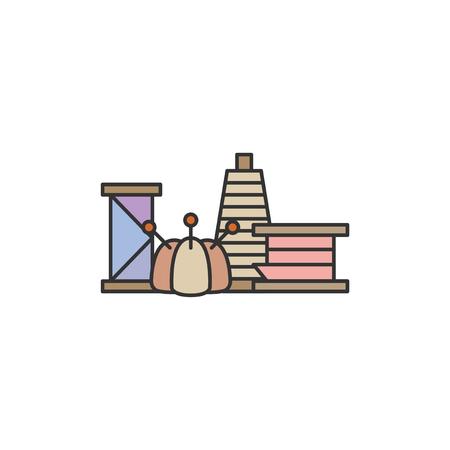 Sewing tool set illustration Reklamní fotografie