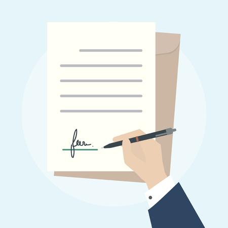 Illustration of business agreement concept Stok Fotoğraf - 98707387