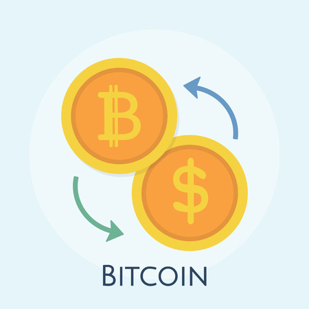 Illustration of bitcoin concept