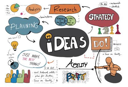 Ideas sketch illustration
