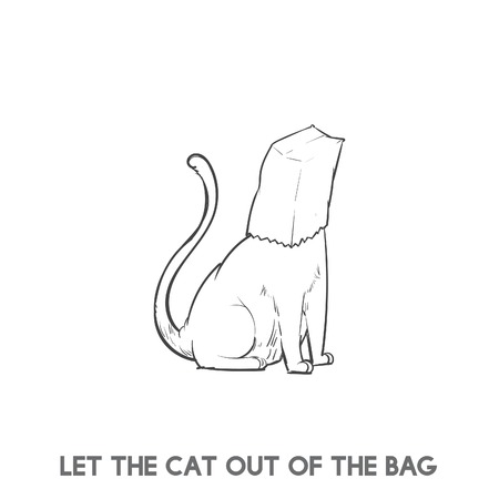 Let the cat out of the bag 版權商用圖片