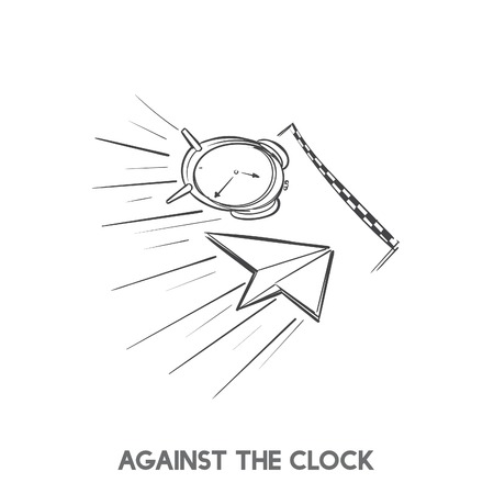 Contro il cronometro vettore idioma Archivio Fotografico - 98708314