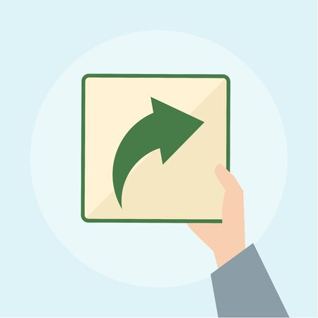 Illustration of arrow icon