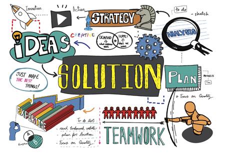 Solution sketch Illustration 版權商用圖片 - 98708340