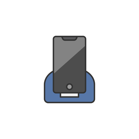 Illustration of a phone being charged Stock fotó