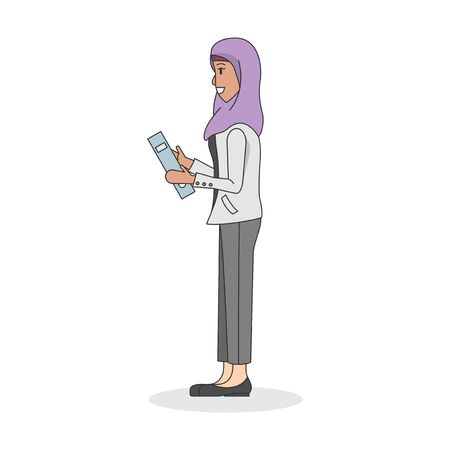 Illustration of a woman wearing a hijab Stock fotó