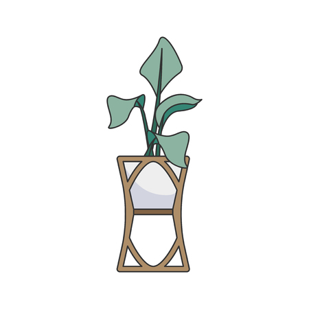 Illustration of a plant in a vase Stock Photo