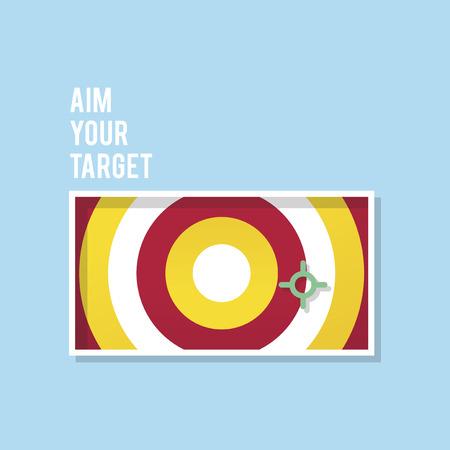 Aim your target illustration business marketing and goal concept Reklamní fotografie - 98723509