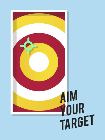 Aim your target illustration business marketing and goal concept