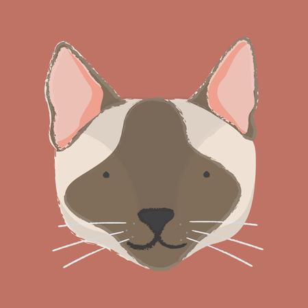 Illustration of cat Stock fotó