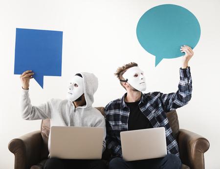 Computer hacker and cyber crime Foto de archivo