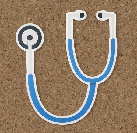 Stethoscope health and hospital icon Stock Photo