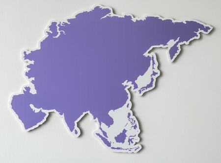 Free blank map of South East Asia Stock Photo - 99602631