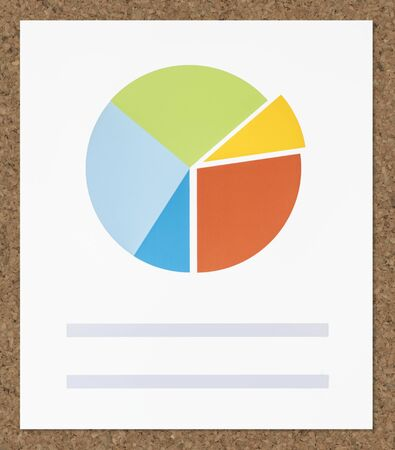 Business data pie chart icon