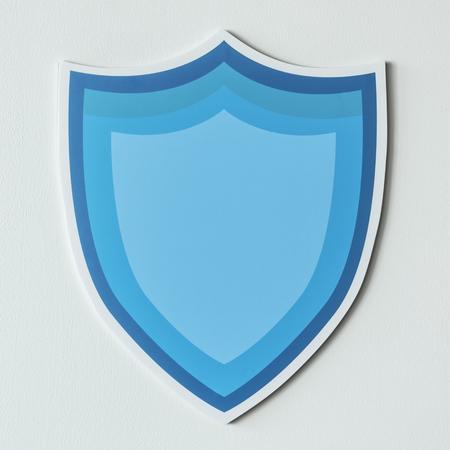 Blaue Schutz Schild Symbol isoliert Standard-Bild - 99602690