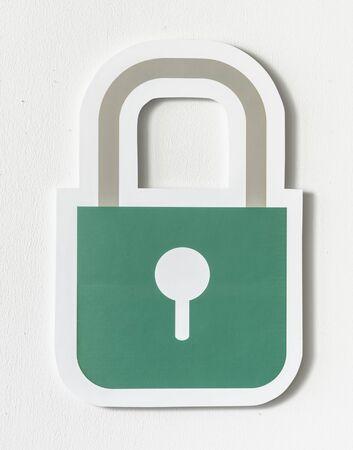 Privacy safety security lock icon Archivio Fotografico - 99602815