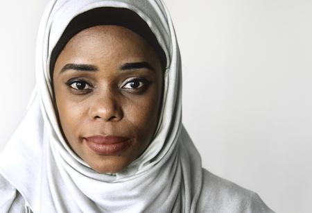 Portrait of beautiful muslim woman