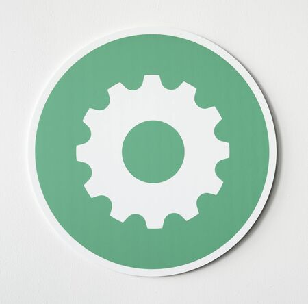 Green settings tools icon graphic