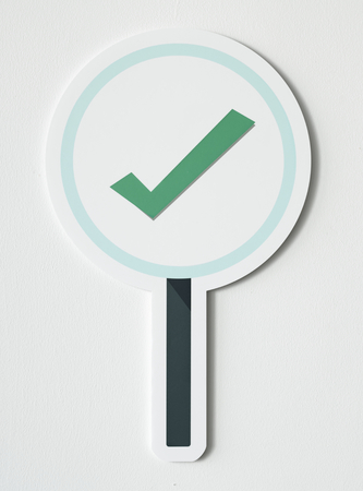 Right tick sign icon isolated 写真素材
